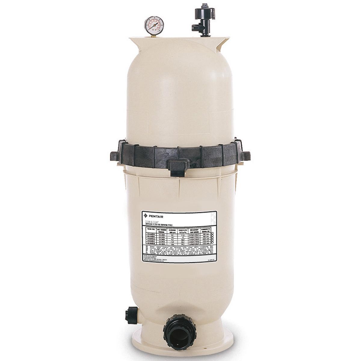 CLEAN & CLEAR Kartuschenfilter Filterfläche 18,6 m² Filterleistung 34,0 m³/h Höhe 1029 mm