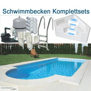 aktion schwimmb der komplett set schwimmbadbau pool. Black Bedroom Furniture Sets. Home Design Ideas