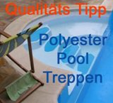 Polyester Schwimmbad Treppen