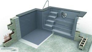 salzwasser pooltreppen schwimmbadbau pool sauna dampfbad schwimmbadbau24. Black Bedroom Furniture Sets. Home Design Ideas