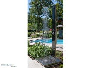 Warmwasser gartenduschen schwimmbadbau pool sauna for Gartendusche mit warmwasser