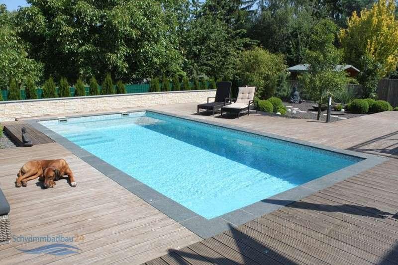 Beckenrandstein athen rechteckiges komplettset for Garten pool 4m durchmesser
