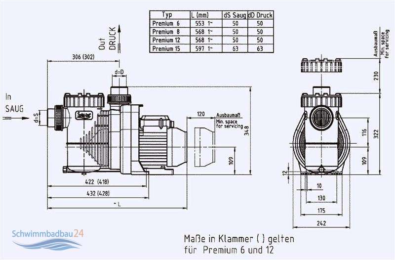 filter pumpe super pump premium 304 90. Black Bedroom Furniture Sets. Home Design Ideas