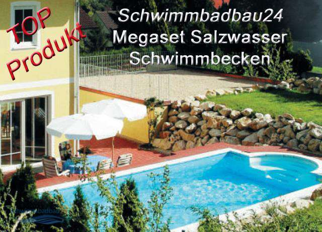 sunny pool golf rechteck megaset salzwasser schwimmbecken r mische treppe licht. Black Bedroom Furniture Sets. Home Design Ideas
