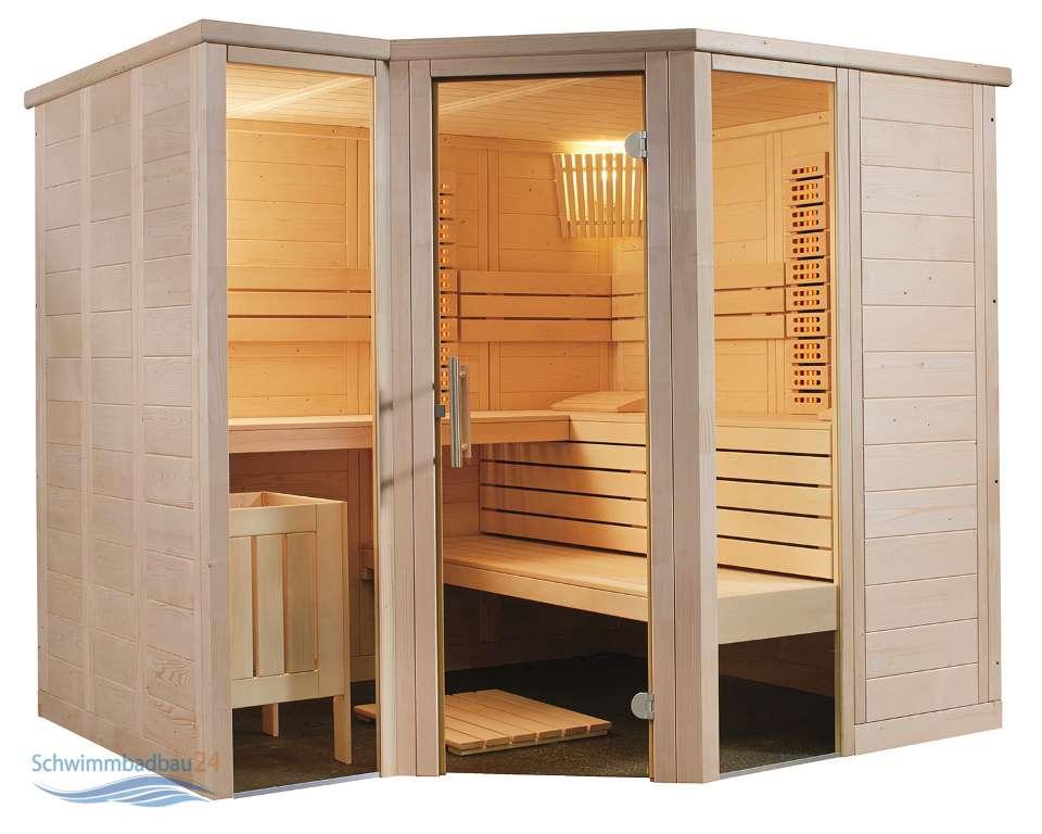 domo alaska all in sauna 206 x 206 cm. Black Bedroom Furniture Sets. Home Design Ideas