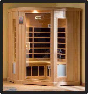 helo infrarotkabine sun typ 4 harmonie b130 x t130 x h193 cm. Black Bedroom Furniture Sets. Home Design Ideas
