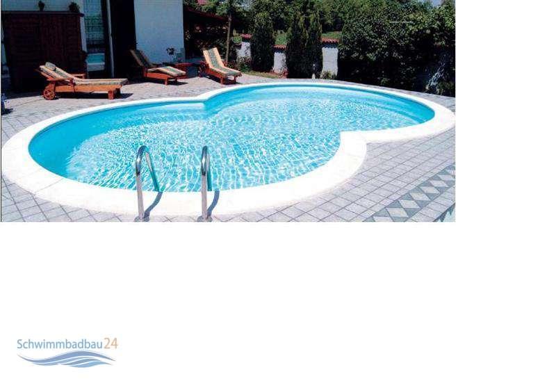 Schwimmbadfolie achtformbecken schwimmbad und saunen for Hersteller poolfolien