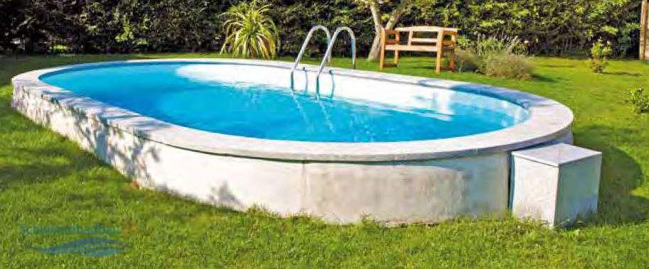 Scp ovalformbecken samoa oval schwimmbecken for Schwimmbecken oval aufstellbecken
