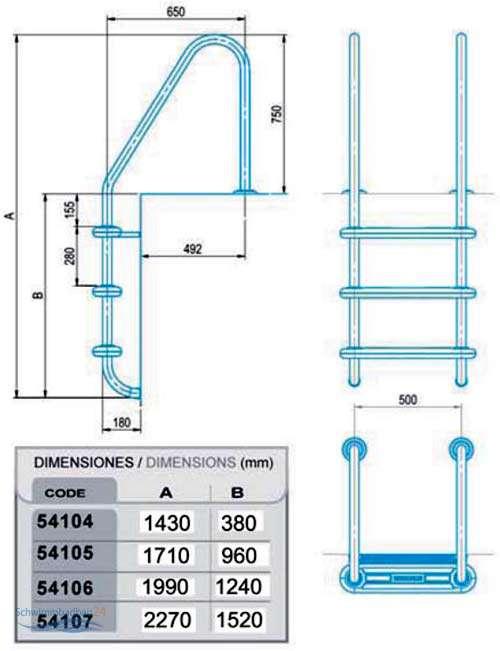 einbauleiter typ h protection f r salzwasserschwimmbecken. Black Bedroom Furniture Sets. Home Design Ideas