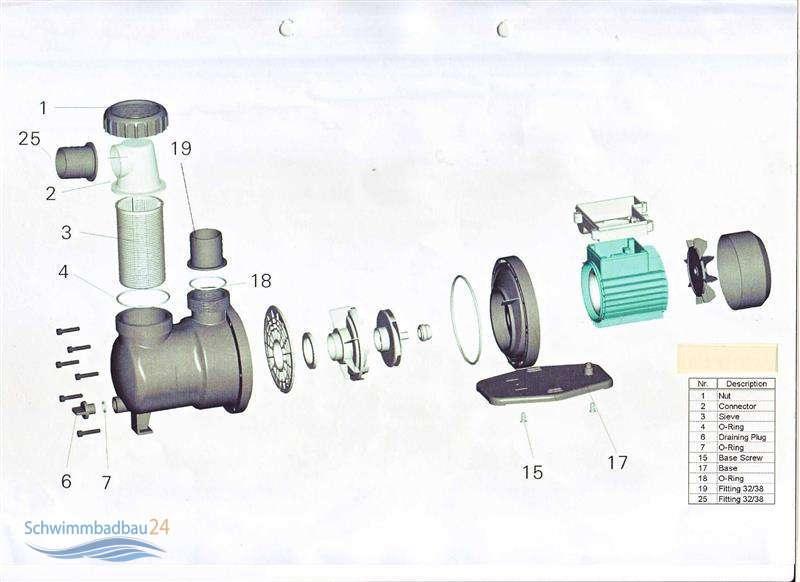 laufrad f r schwimmbadpumpe fasatech sps pumpe 26 90. Black Bedroom Furniture Sets. Home Design Ideas