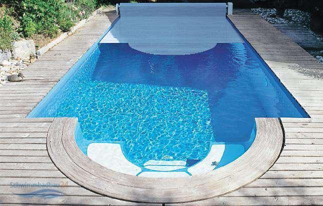 Swim tec 900 polyester becken 9 10 m x 3 70 m x 1 50 m 50 for Schwimmbecken polyester