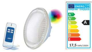 Aktion LED Seamaid Poolleuchtmittel PAR56 mit Fernbedienung