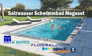 sunny pool golf rechteck megaset salzwasser schwimmbecken r mische treppe licht. Black Bedroom Furniture Sets. Home Design Ideas