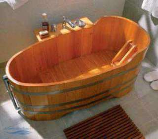 Holzbadewanne L�rche 100 cm x 72 cm Holzwanne Holzzuber