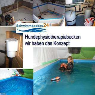 Hunde Physiotherapie Schwimmbad ca. 1,2 m Tief
