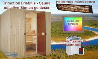 Saunatop TriMotion Element Erlebnissauna Sauna +...