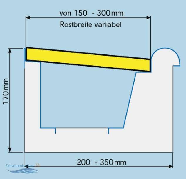 Berlaufrinne shop schwimmbad und saunen for Schwimmbad shop