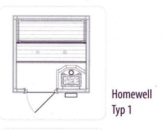 HOMEWELL Typ 1 Front B161 x T161 x H195 cm,...