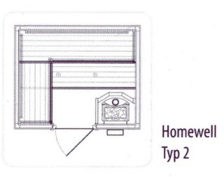 HOMEWELL Typ 2 Front B195 x T161 x H195 cm,...