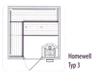 HOMEWELL Typ 3 Front B195 x T195 x H195 cm,...