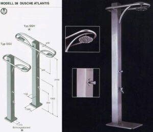 IDEAL Dusche ATLANTIS Typ MB Kastenbrause