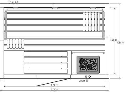 saunatop sauna eifel classic elementsauna schwimmbadbau pool saun schwimmbadbau24. Black Bedroom Furniture Sets. Home Design Ideas