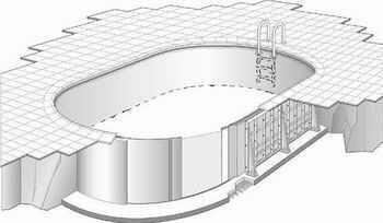 sunny pool spezialst tzwand f r ovalschwimmbecken 1 50 m. Black Bedroom Furniture Sets. Home Design Ideas
