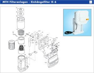 Ersatz Textilkartusche Einhänge Skimmer Einhängefilter IS 5 IS 6 IS 12 SK 2 MTH