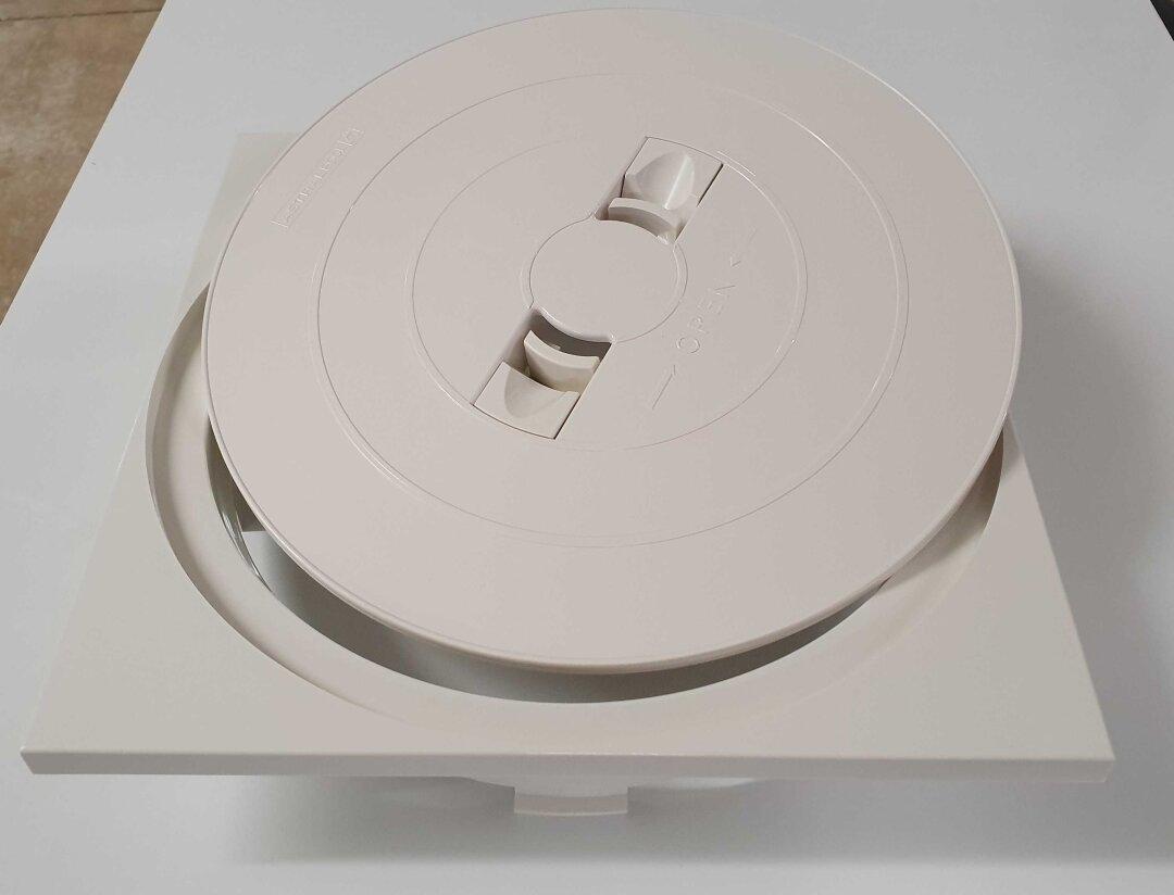 Skimmerdeckel quadratisch m. Rahmen 247 mm x 247 mm Skimmer 17.5 ...