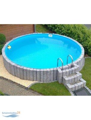 Sunny Pool Rund Schwimmbecken Höhe 1,35 M   Schwimmbadbau, Pool |  Schwimmbadbau24