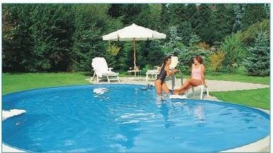 Achtformbecken sunny pool schwimmbad 0 6 mm folie for Folie schwimmbad