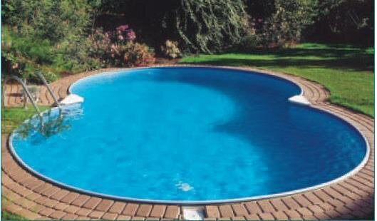 Achtformbecken sunny pool schwimmbad 0 6 mm folie for Pool set aktion
