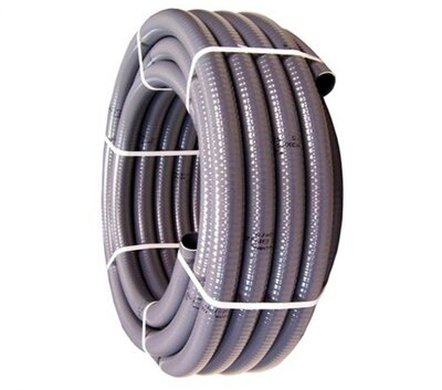 PVC Poolflex Rohr Flexibel d 50 mm grauer...