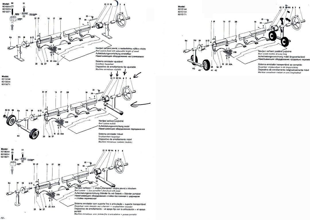 Ersatzteil aufrollvorrichtung fix ks einlage nr 8 20 30 - Whirlpool einlage ...
