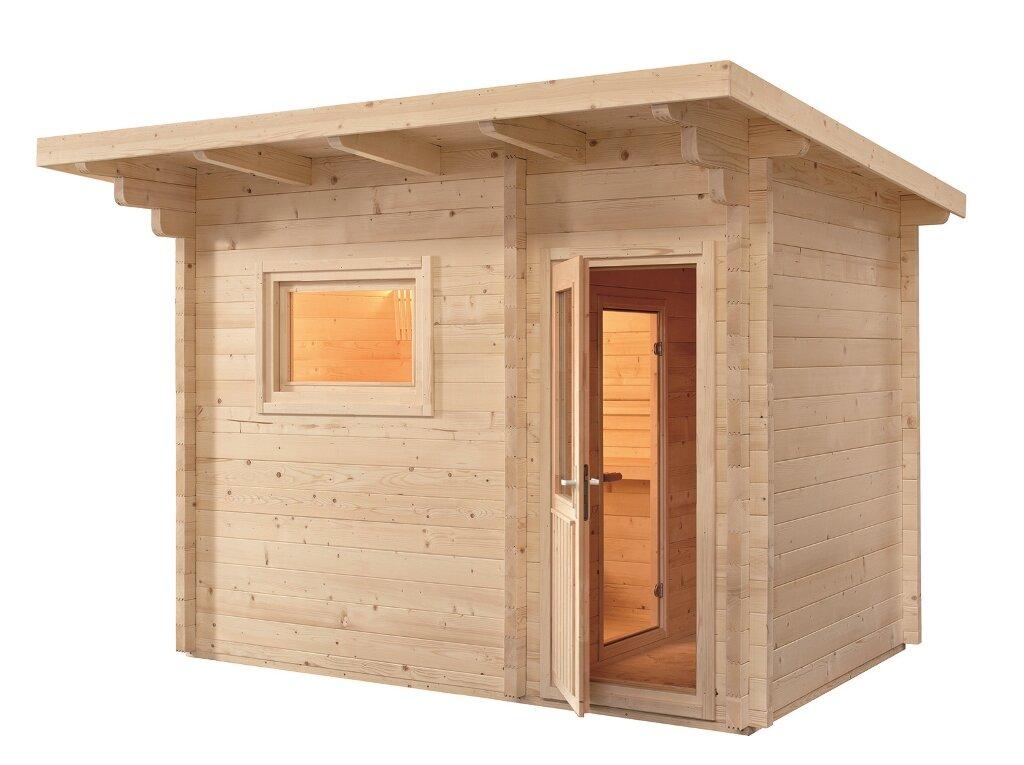 domo aussensauna gartensauna lava 341 x 230 x 270 schwimmbadbau po schwimmbadbau24. Black Bedroom Furniture Sets. Home Design Ideas
