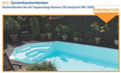 Aktion Sunset Pool 4 x 8 x 1,5 m Rechteckbecken Set BALI...