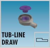 LUX ELEMENTS-TUB-LINE DRAW Bodenablauf-Stutzen DN 50...