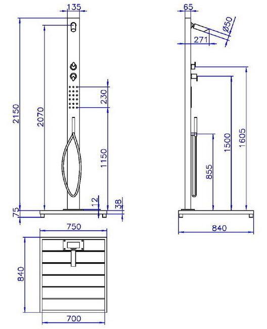 ideal dusche malta edelstahl gartendusche kalt. Black Bedroom Furniture Sets. Home Design Ideas